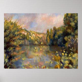 Poster Paysage de Renoir - de Lakeside