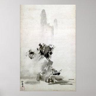 Poster Paysage de Sesshu Toyo Haboku-Sansui