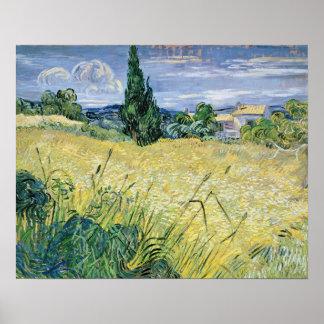 Poster Paysage de Vincent van Gogh | avec du maïs vert,