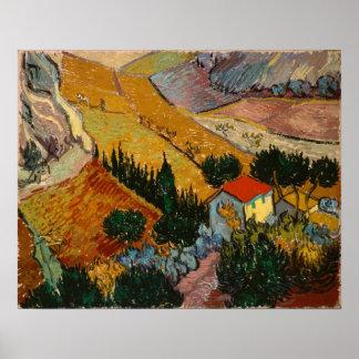Poster Paysage de Vincent van Gogh   avec la Chambre et