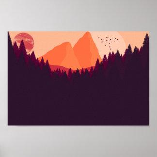 Poster Paysage éloigné de planète