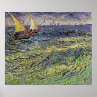 Poster Paysage marin de Vincent van Gogh   chez