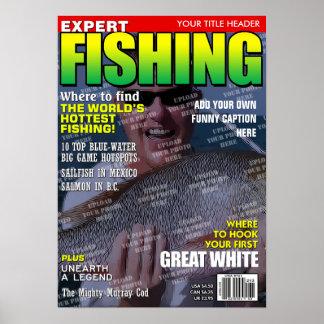 Poster Pêche de la couverture de magazine personnalisée