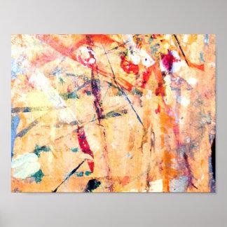 Poster Peint à la main moderne abstrait