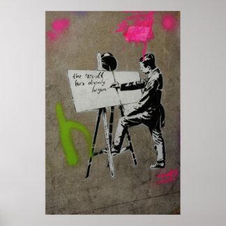 Poster Peintre au travail