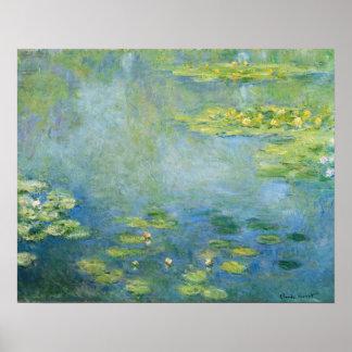 Poster Peinture 1906 de nénuphars de Monet