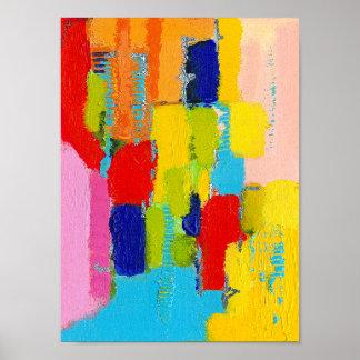 Poster Peinture abstraite fantastique par Kris Taylor