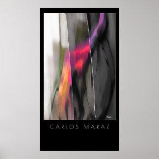 Poster Peinture abstraite par la copie d'art de Carlos