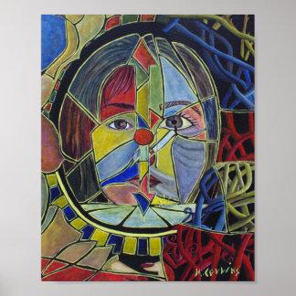 Poster Peinture abstraite surréaliste