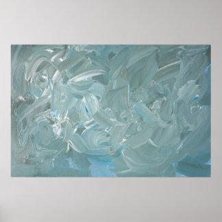 Poster Peinture abstraite tempétueuse d'expressioniste de