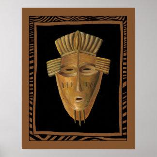 Poster Peinture africaine de masque par Chariklia Zarris