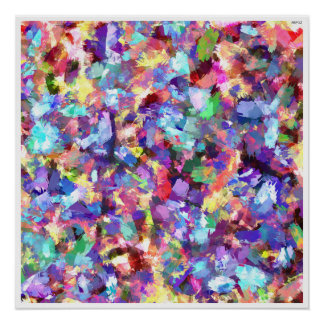 Poster Peinture avec la couleur