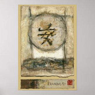 Poster Peinture chinoise de tranquilité par Mauro