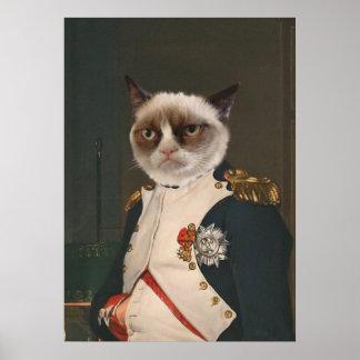 Poster Peinture classique de chat grincheux