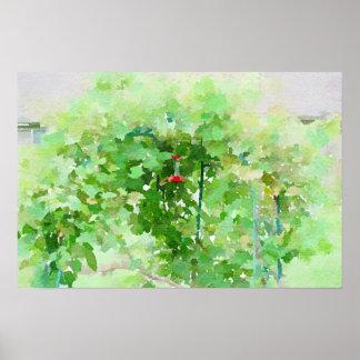 Poster Peinture d'abrégé sur aquarelle de conducteur de