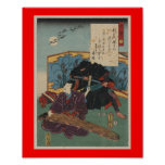 Poster Peinture de Ninja circa le Japon 1853