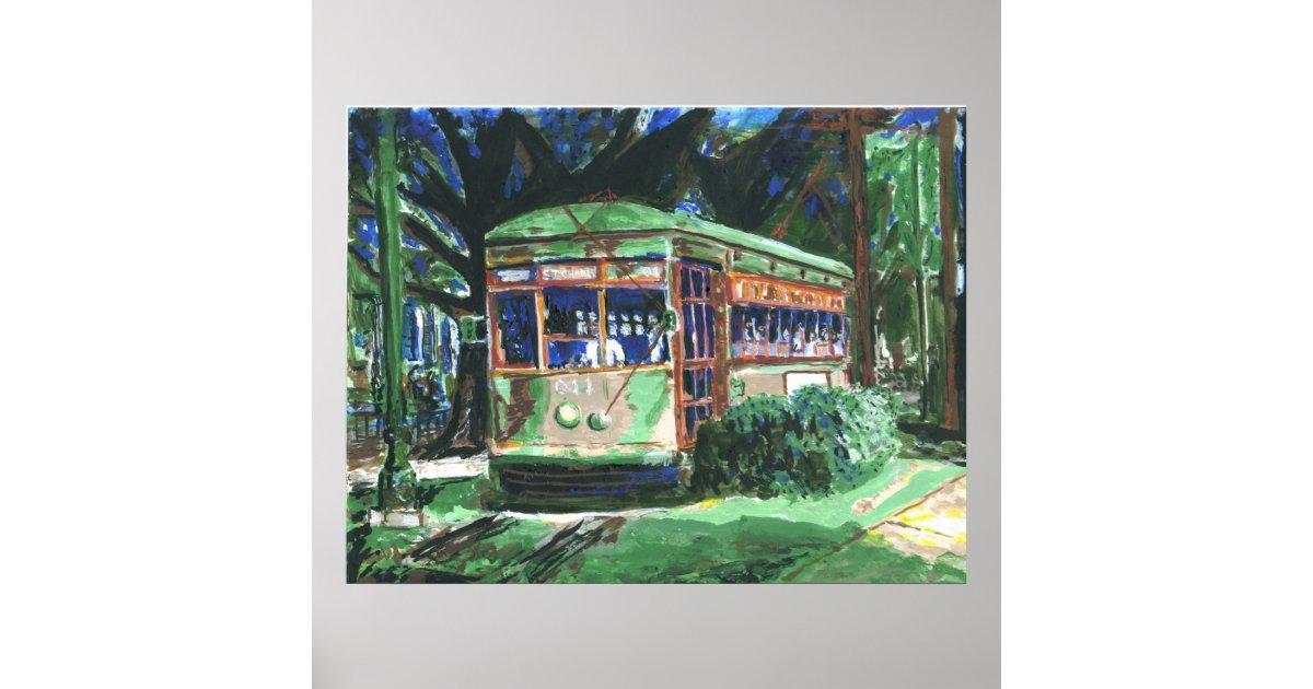 Poster peinture de tramway de la nouvelle orl ans - Poster peinture ...