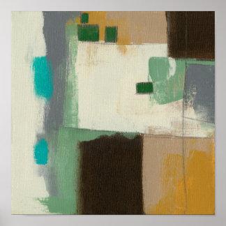 Poster Peinture d'expressioniste avec les courses lourdes