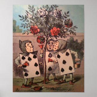 Poster Peinture du rouge 2 de roses