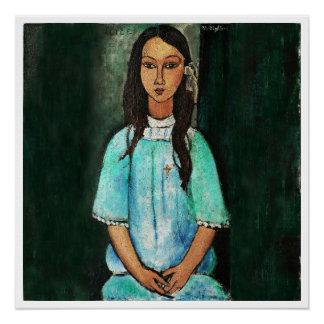 Poster Peinture vintage de beaux-arts de Modigliani Alice
