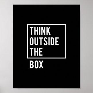 Poster Pensez en dehors de la boîte