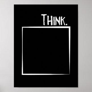 Poster Pensez en dehors de la typographie de coquille de