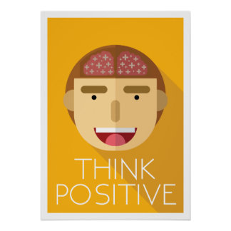 Poster Pensez la conception plate positive