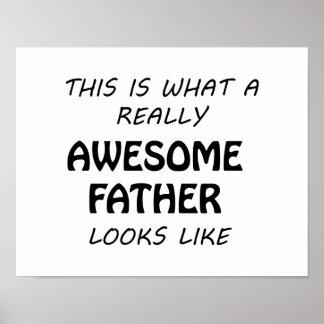Poster Père impressionnant