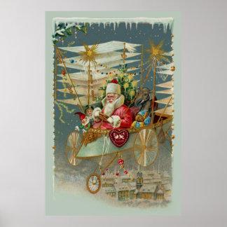Poster Père Noël et son affiche extraordinaire de machine