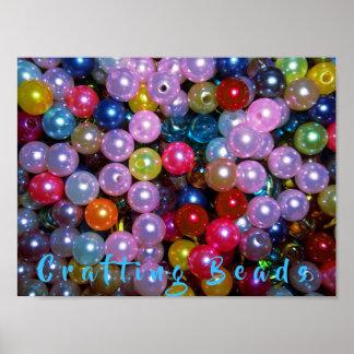 Poster Perles colorées brillantes