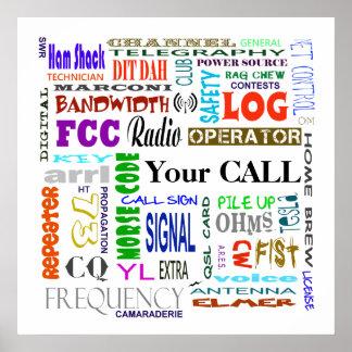 Poster Personnaliser d'affiche de collage de mot de