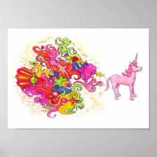Poster Pet de licorne