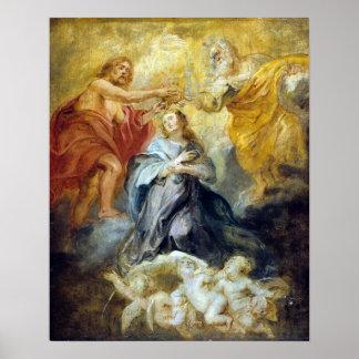 Poster Peter Paul Rubens le couronnement de la Vierge