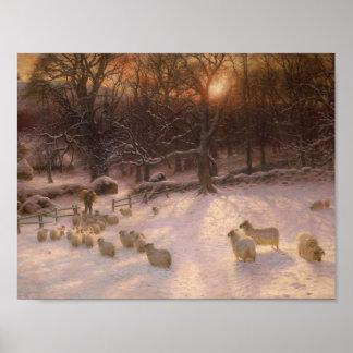 Poster Petit déjeuner d'hiver, Joseph Farquharson