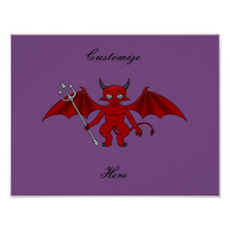 Poster Petit diable rouge Thunder_Cove