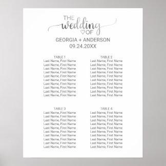 Poster Petit diagramme d'allocation des places de mariage