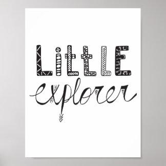 Poster Petit explorateur - affiche de crèche ou de pièce