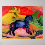 Poster Petit Horse bleu, 1912