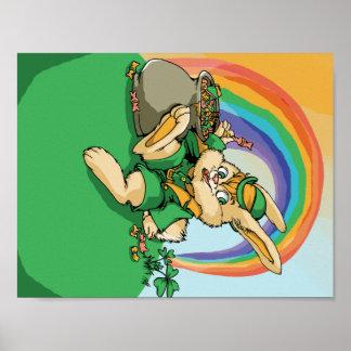 Poster Petit lapin drôle de Patrick de saint