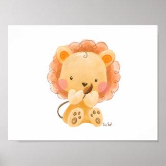 Poster Petit lion