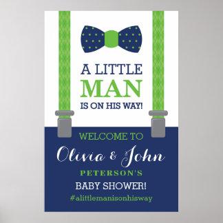 Poster Petite affiche de signe bienvenu d'homme, baby