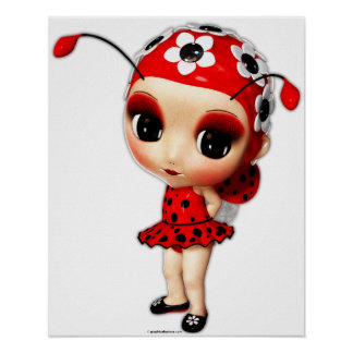 Poster Petite Mlle Ladybug