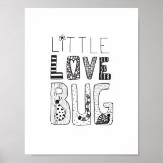 Poster Peu d'insecte d'amour - affiche d'art de crèche ou