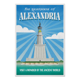 Poster Phare de l'Alexandrie - merveille antique
