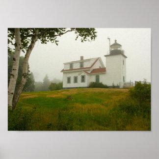 Poster Phare de point de fort, Maine