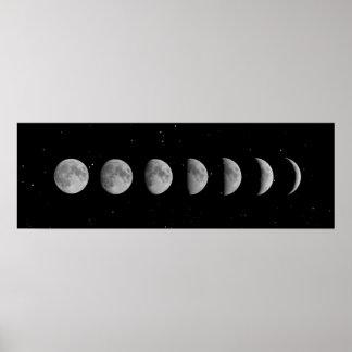 Poster Phases et étoiles de lune