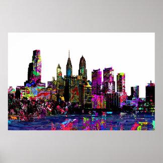 Poster Philadelphie dans le graffiti