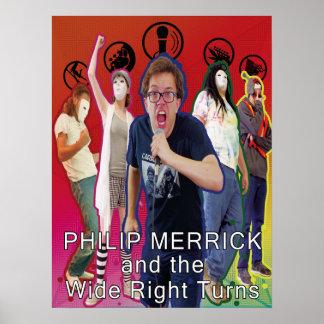Poster Philip Merrick et la bande large Postr de tours de