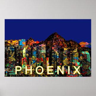 Poster Phoenix dans le graffiti