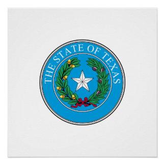 Poster Phoque du Texas, phoque d'état américain